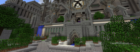 Minecraft Castle, Free Facebook Timeline Profile Cover, Characters