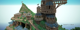 Minecraft Mountain, Free Facebook Timeline Profile Cover, Characters