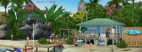 Sims Beach Paradise, Free Facebook Timeline Profile Cover, Characters