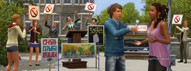 Sims Manifestation, Free Facebook Timeline Profile Cover, Characters