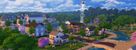 Sims Small City, Free Facebook Timeline Profile Cover, Characters