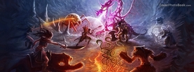 Tibia Artwork Dragon fight, Free Facebook Timeline Profile Cover, Characters