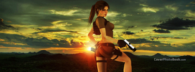 Tomb Raider Lara Croft Sunset, Free Facebook Timeline Profile Cover, Characters