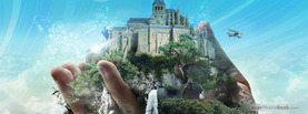 Castle in Hand, Free Facebook Timeline Profile Cover, Creative
