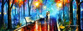 Colorful Couple Walking, Free Facebook Timeline Profile Cover, Creative