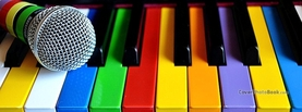 Colorful Piano, Free Facebook Timeline Profile Cover, Creative