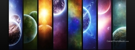 Colorful Planets Universe, Free Facebook Timeline Profile Cover, Creative