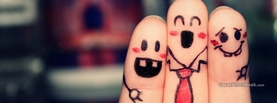 Happy Friendship Friends Fingers, Free Facebook Timeline Profile Cover, Creative