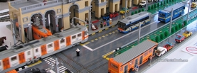 Lego Bus and Train, Free Facebook Timeline Profile Cover, Creative
