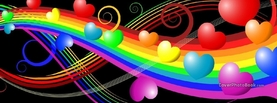 Pretty Colorful Hearts, Free Facebook Timeline Profile Cover, Creative