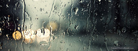 Rain on Window, Free Facebook Timeline Profile Cover, Creative