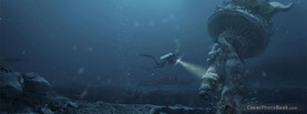Statue sunken Sea, Free Facebook Timeline Profile Cover, Creative