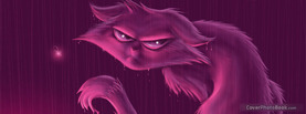 Angry Kitty Purple, Free Facebook Timeline Profile Cover, Emotions