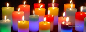 Colorful Candles, Free Facebook Timeline Profile Cover, Emotions