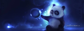 Cute Panda Bear Bubble Wonder, Free Facebook Timeline Profile Cover, Emotions