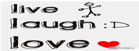 Live Love Laugh, Free Facebook Timeline Profile Cover, Emotions
