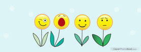 Smiley Flowers, Free Facebook Timeline Profile Cover, Emotions
