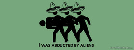 Abducted by Alien, Free Facebook Timeline Profile Cover, Funny