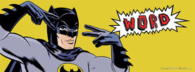 Batman Word Retro, Free Facebook Timeline Profile Cover, Funny