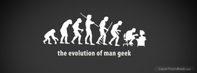Evolution Man Geek, Free Facebook Timeline Profile Cover, Funny