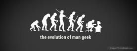 Evolution Man Geek, Free Facebook Timeline Profile Cover, Funny
