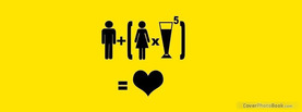 Men Women Drinks Love, Free Facebook Timeline Profile Cover, Funny