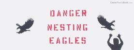 Nesting Eagles Danger, Free Facebook Timeline Profile Cover, Funny