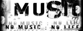 No Music No Life, Free Facebook Timeline Profile Cover, Hobbies