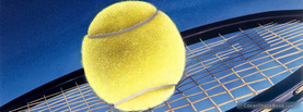 Tennis Ball on Racket, Free Facebook Timeline Profile Cover, Hobbies