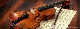 Violin Manuscript, Free Facebook Timeline Profile Cover, Hobbies