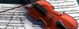 Violin and Notes, Free Facebook Timeline Profile Cover, Hobbies