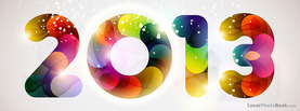 2013 Circle Glows New Years, Free Facebook Timeline Profile Cover, Holidays