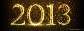 2013 Sparkling New Year, Free Facebook Timeline Profile Cover, Holidays