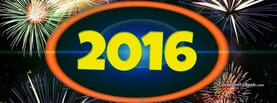 2016 New Year Fireworks, Free Facebook Timeline Profile Cover, Holidays