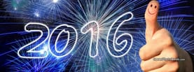 2016 New Year Fireworks and Smile, Free Facebook Timeline Profile Cover, Holidays