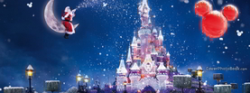 Beautiful Christmas Disney Castle, Free Facebook Timeline Profile Cover, Holidays