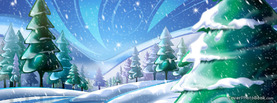 Beautiful Glossy Christmas Ice Snow, Free Facebook Timeline Profile Cover, Holidays