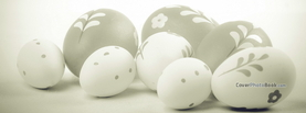 Black White Greyscale Easter Eggs, Free Facebook Timeline Profile Cover, Holidays