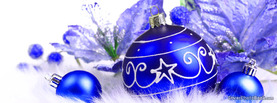 Blue Christmas Ornaments, Free Facebook Timeline Profile Cover, Holidays
