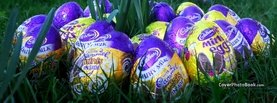 Cadbury Easter Eggs in Grass, Free Facebook Timeline Profile Cover, Holidays
