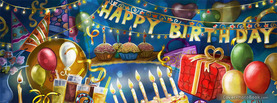 Cartoon Birthday Party, Free Facebook Timeline Profile Cover, Holidays