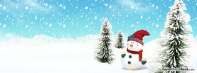 Catoon Christmas Winter Snowman, Free Facebook Timeline Profile Cover, Holidays