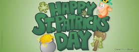 Catoon St Patricks Day, Free Facebook Timeline Profile Cover, Holidays