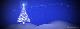 Christmas Beautiful Blue Glow Night, Free Facebook Timeline Profile Cover, Holidays