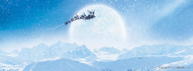 Christmas Big Full Moon Reindeer Sleigh, Free Facebook Timeline Profile Cover, Holidays