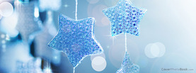 Christmas Blue Stars Hanging, Free Facebook Timeline Profile Cover, Holidays