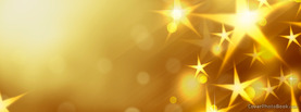 Christmas Bright Yellow Stars, Free Facebook Timeline Profile Cover, Holidays