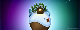 Christmas Cute World Globle Planet, Free Facebook Timeline Profile Cover, Holidays