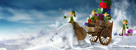 Christmas Elves Polar Bear Gifts, Free Facebook Timeline Profile Cover, Holidays