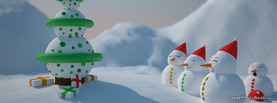 Christmas Happy Snowmen Tree, Free Facebook Timeline Profile Cover, Holidays